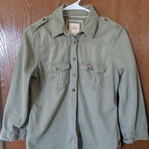 Hollister Girls Med Jean Jacket Size M Light Green
